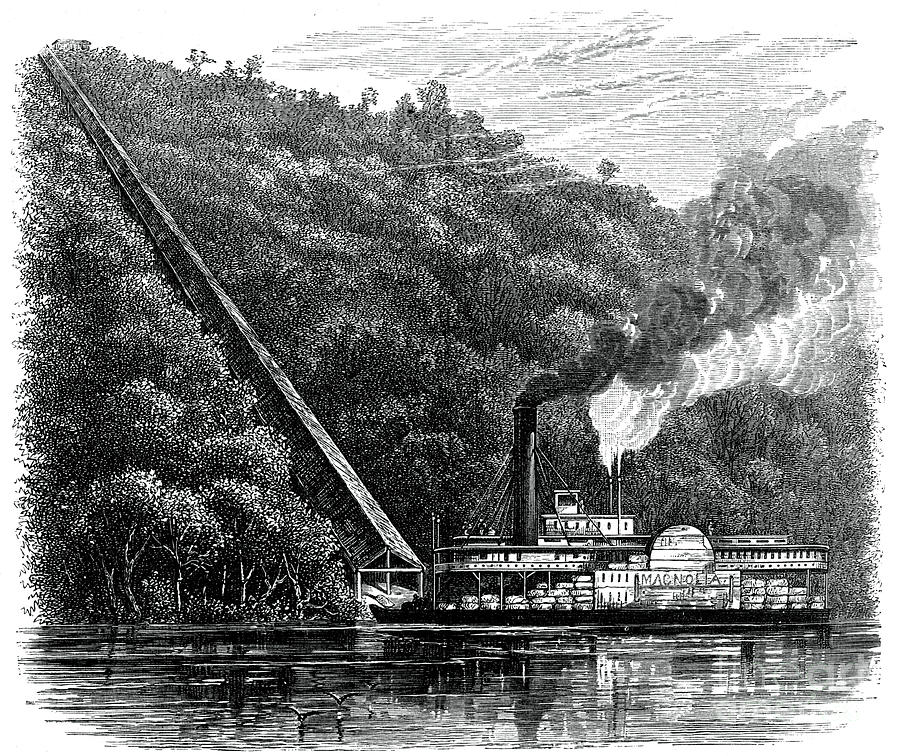 A Cotton Chute, United States, C1880 Drawing by Print Collector