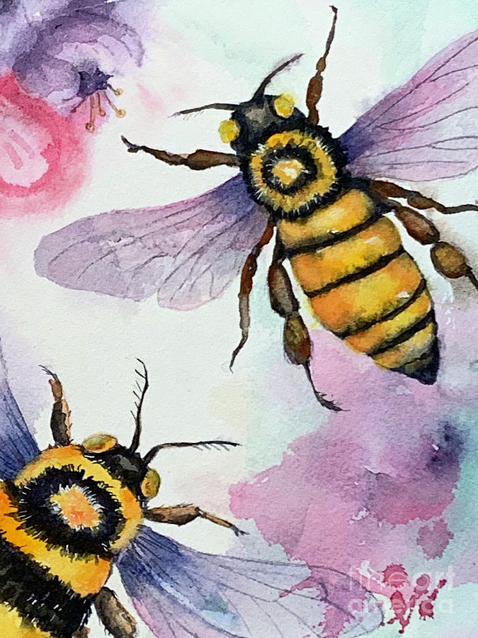 A Couple of Bees by Hilda Vandergriff