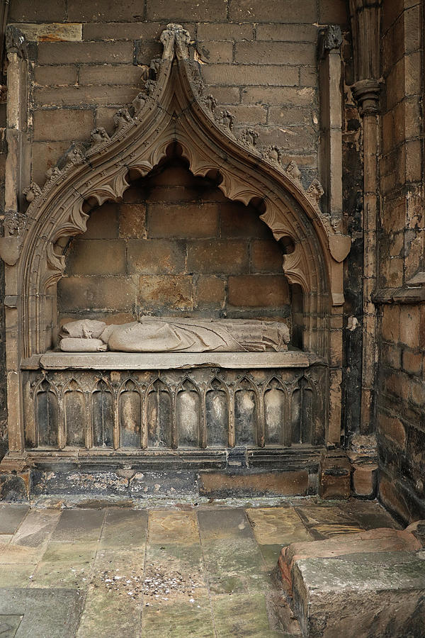 A Crypt at Elgin Cathedral by Dave Mills