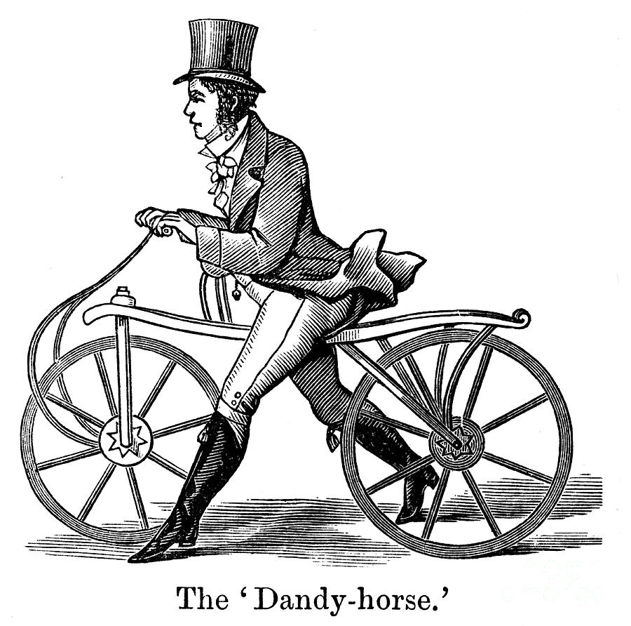 A Dandy-horse Or Draisienne Of The Type Drawing by Print Collector