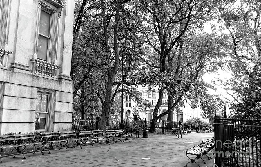 City Hall Park Photograph - A Day In City Hall Park New York City by John Rizzuto