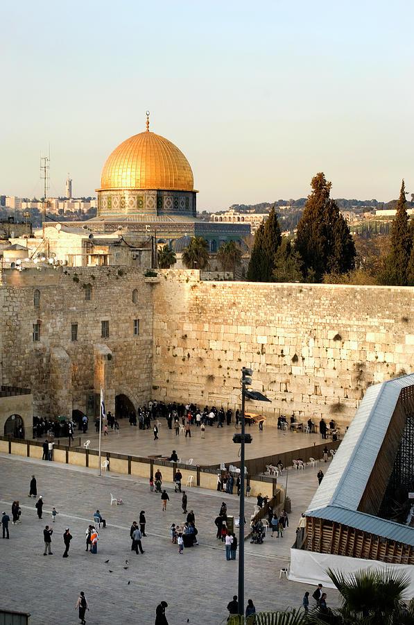 A Distant Shot Of A Morning In Jerusalem Photograph by Stevenallan
