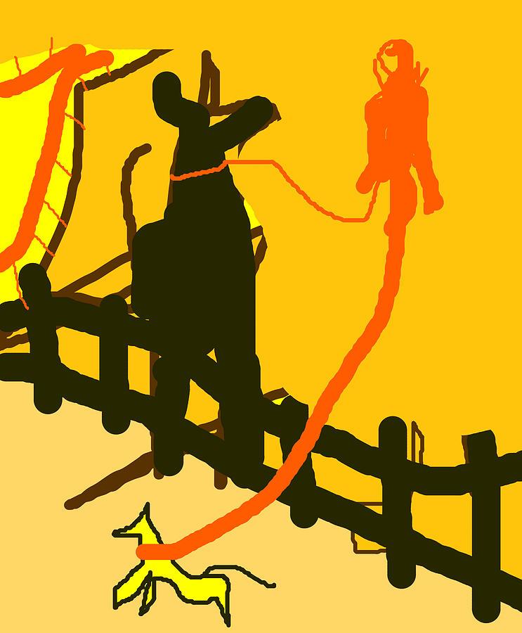 A dog walker by Artist Dot