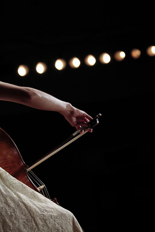 A Female Cellist Hand  Playing Photograph by Sot