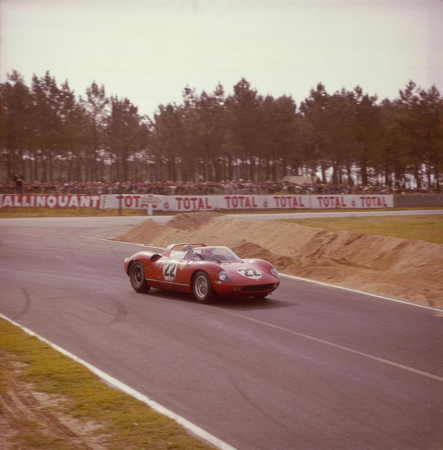 A Ferrari 250 P At Le Mans, France Photograph by Heritage Images