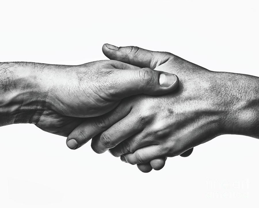 A Firm Handshake Photograph by Svetazi