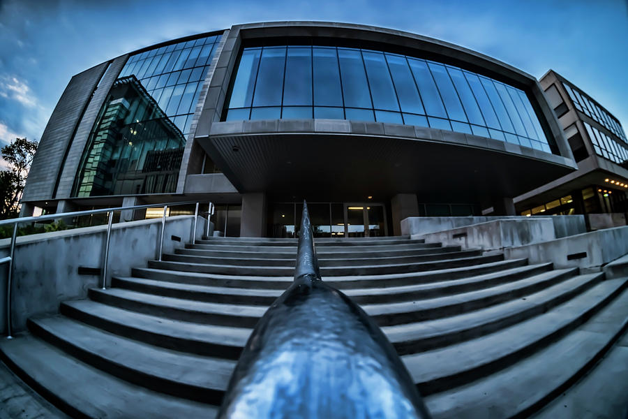 a fisheye view of modern architecture by Sven Brogren