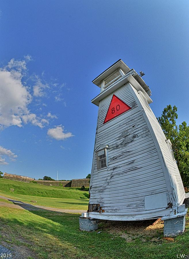 A Fisheye View Of The Lighthouse At Fort Washington Park by Lisa Wooten