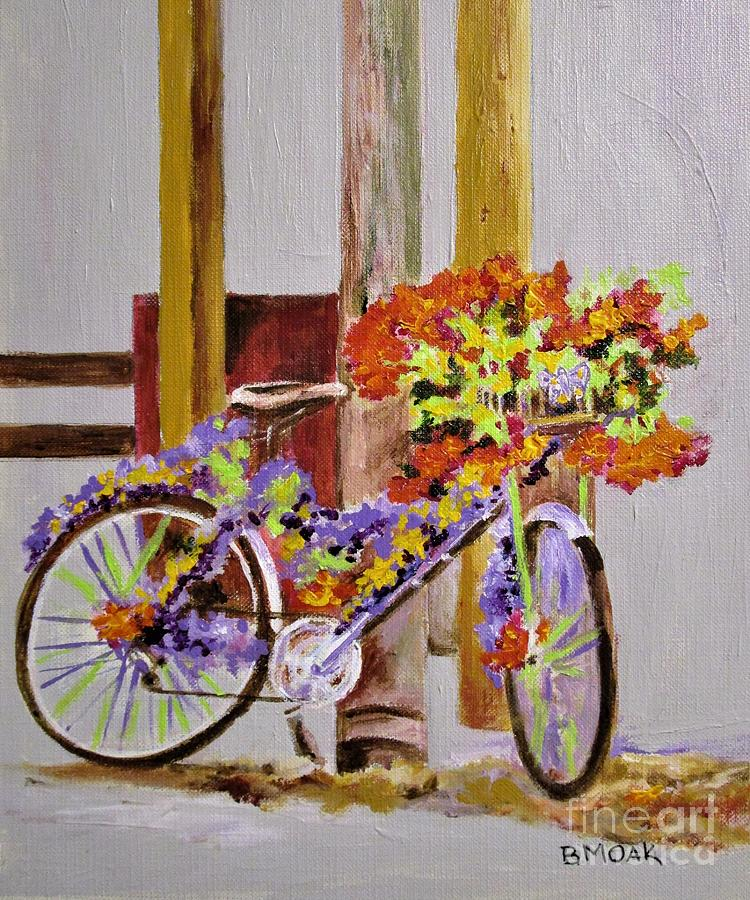 Impressionistic Painting - A Floral Ride by Barbara Moak