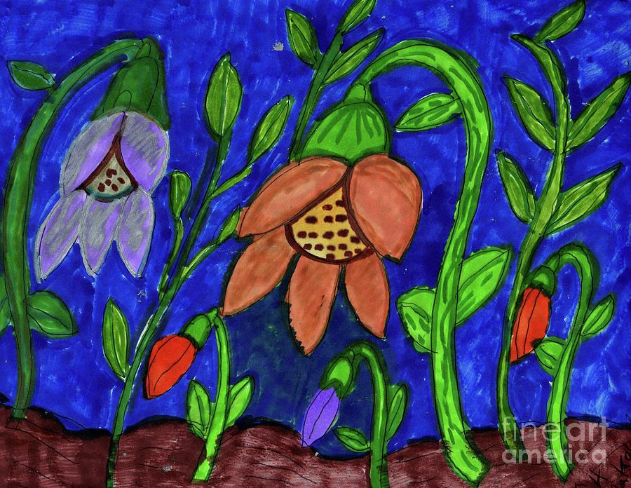 A Flower Garden Mixed Media by Elinor Helen Rakowski