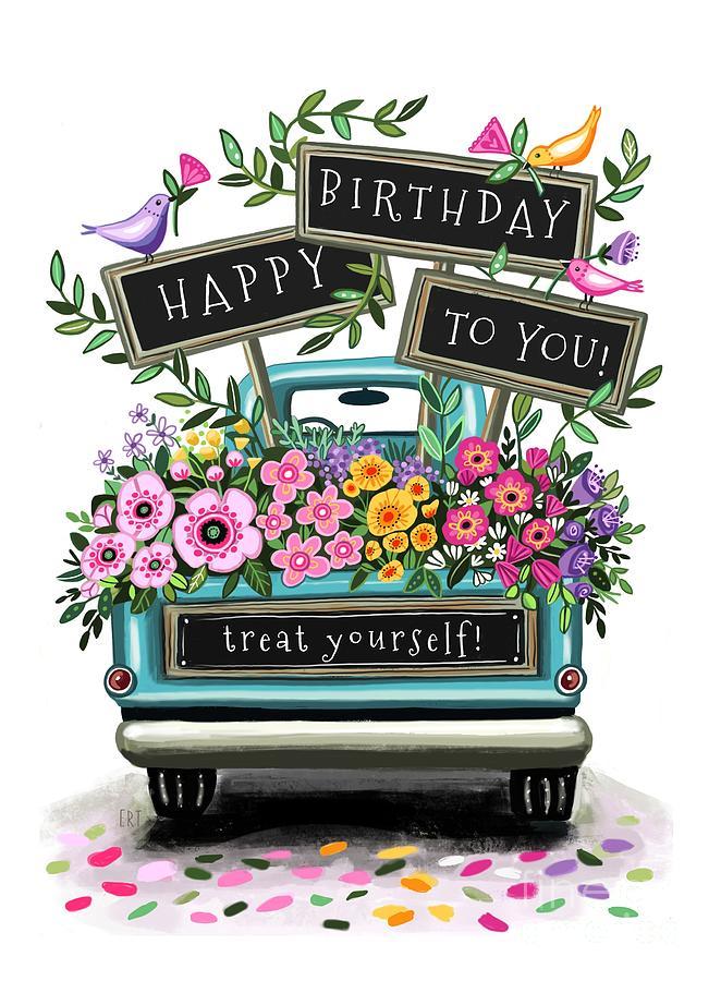 A Flower Truck Birthday by Elizabeth Robinette Tyndall