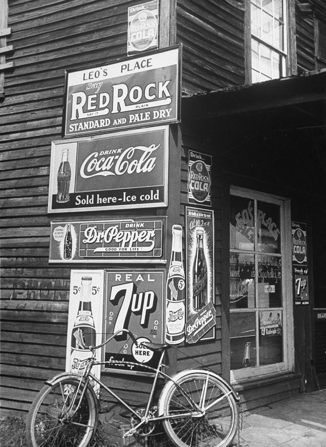 A Food Store Called Leos Place Covered Photograph by Alfred Eisenstaedt