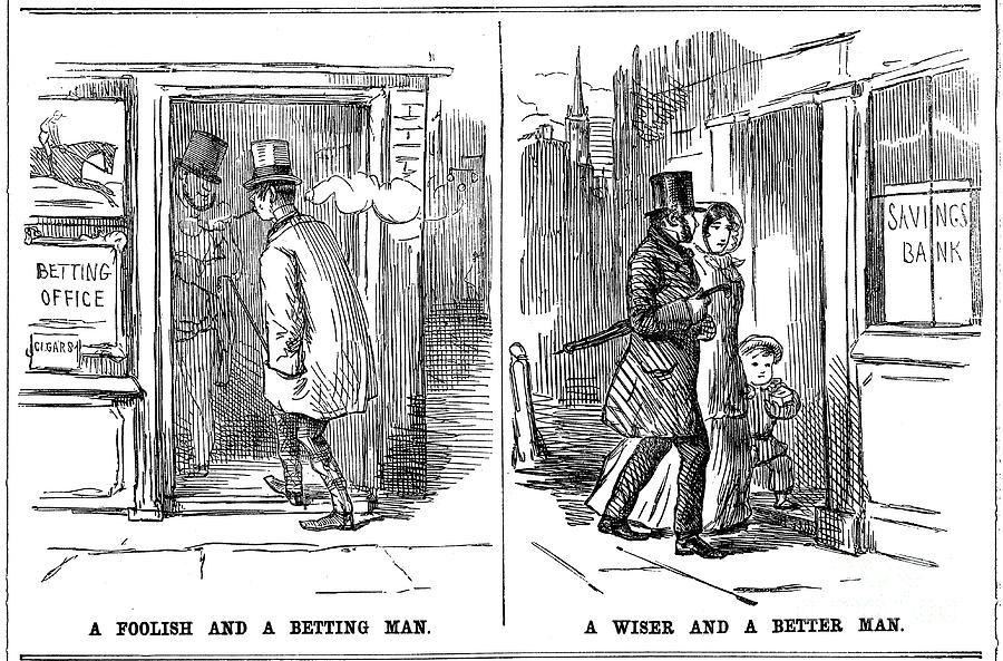 A Foolish And A Betting Man And A Wise Drawing by Print Collector