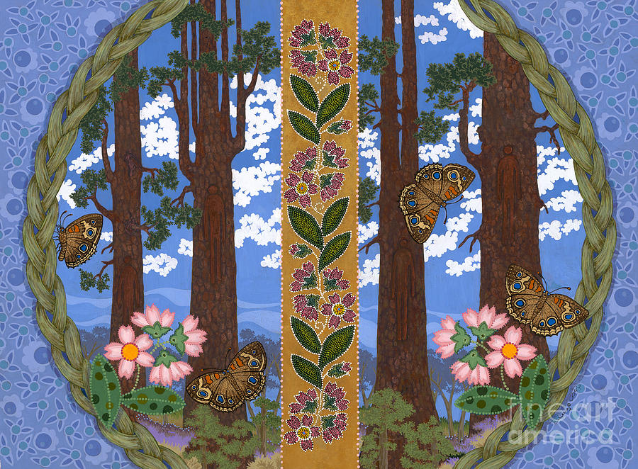 Native American Painting - A Forest Heals by Chholing Taha