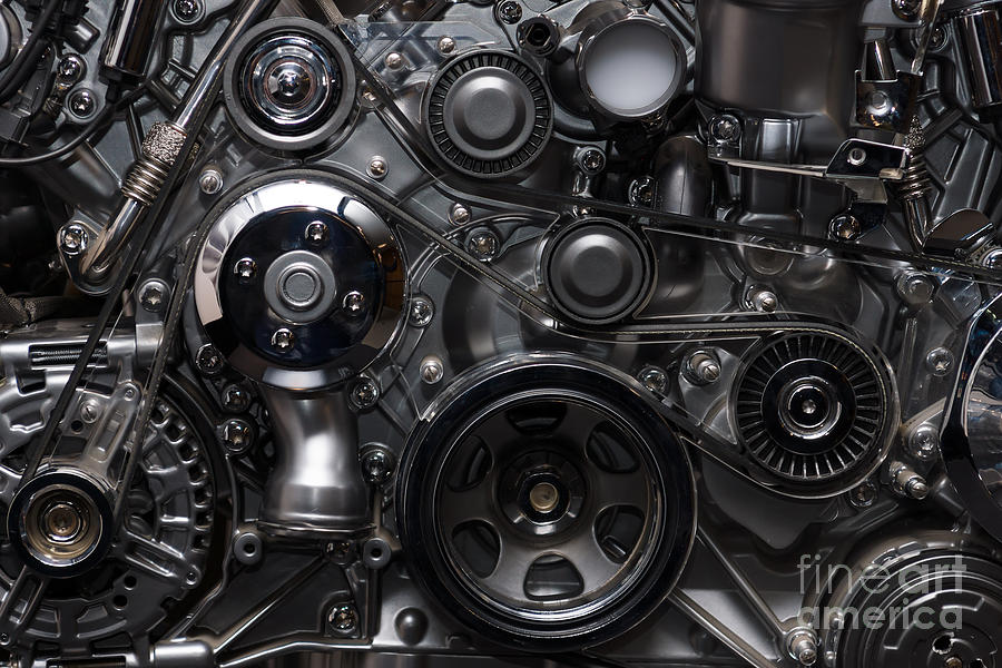 Complexity Photograph - A Fragment Of The Engine by Sergey Kohl