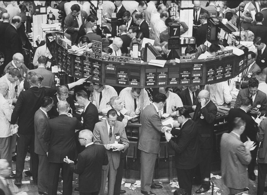 A Frantic Day At The New York Stock Exch Photograph by Yale Joel