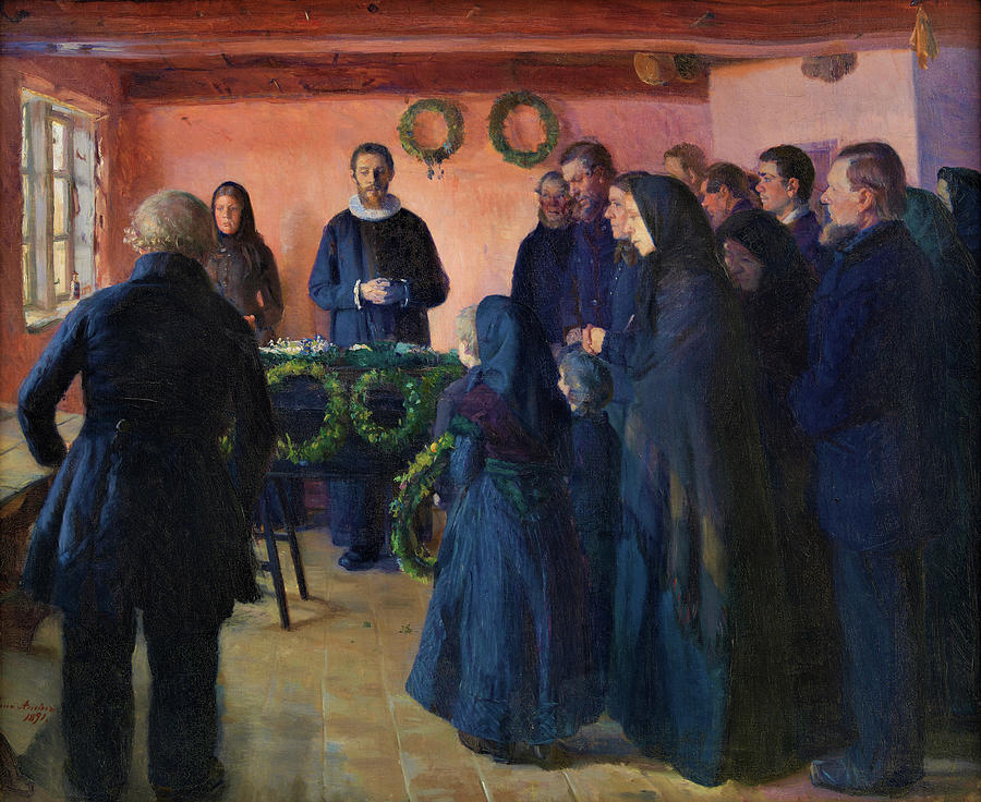 Funeral Painting - A Funeral - Digital Remastered Edition by Anna Ancher