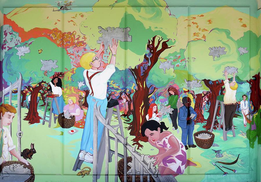 Gateway Painting - A Gateway to Cupertino CA. by Joseph Demaree