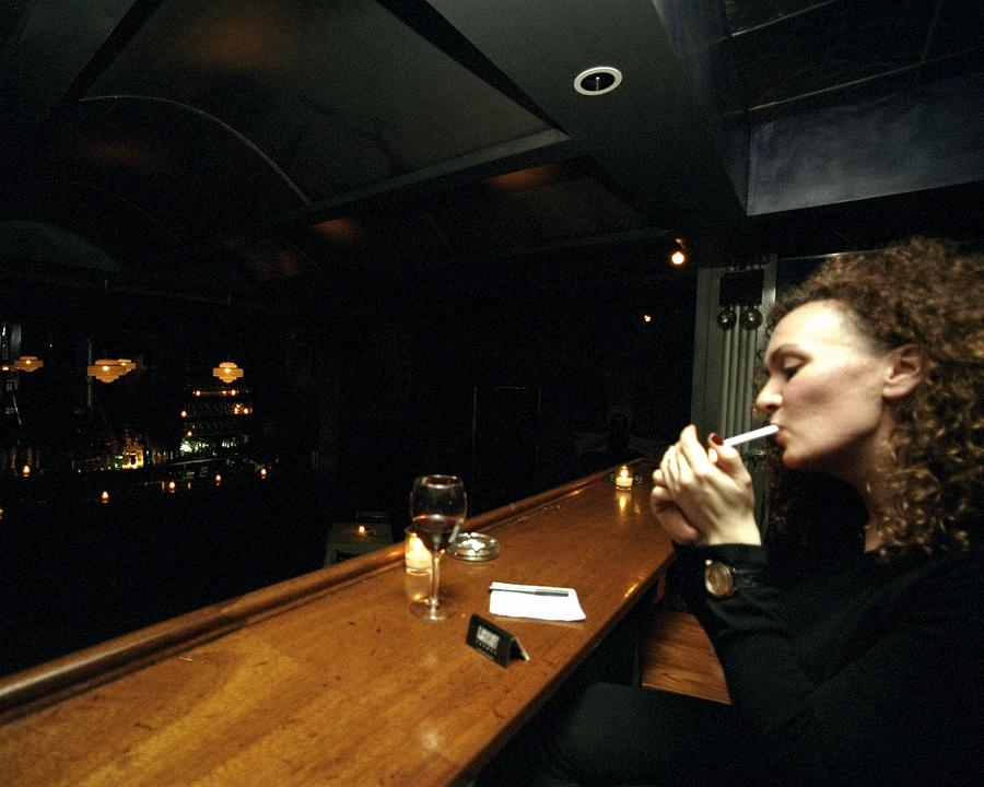 A Generation X Bar At The Back Of Photograph by New York Daily News Archive