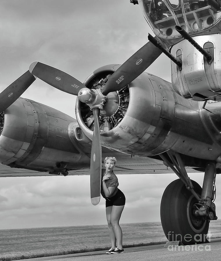A Girl and her B-17 Flying Fortress by Jimmy Ostgard