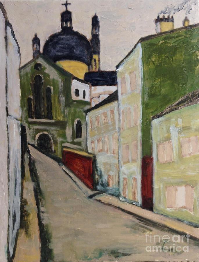 Japanese Artist Painting - A Glimmer Of Paris And Homage To Yuzo Saeki by Sawako Utsumi