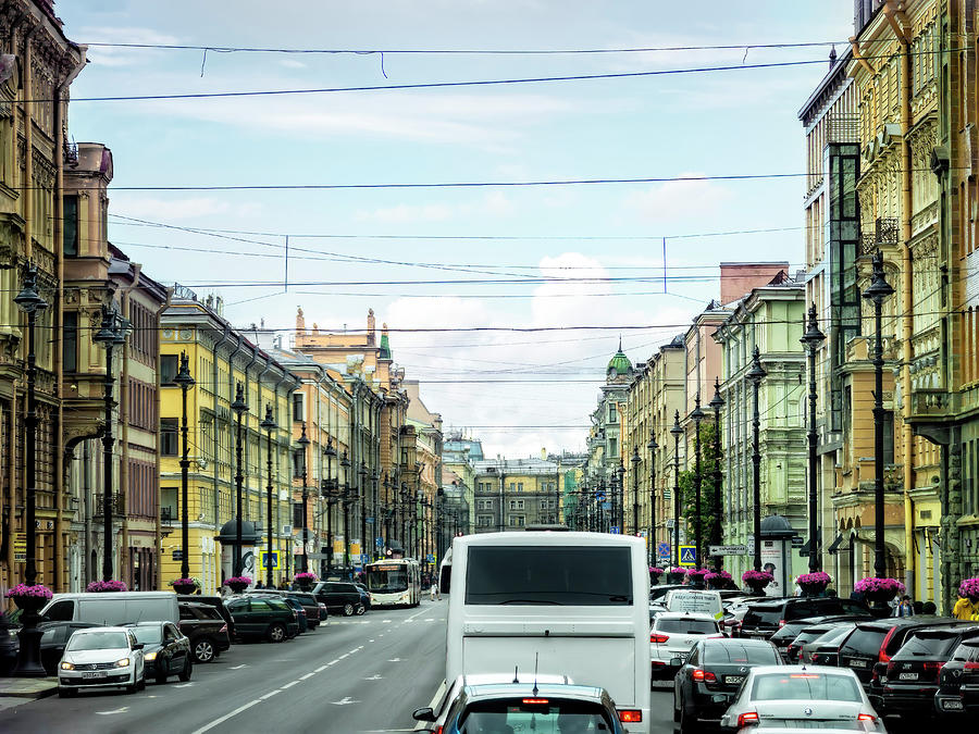 A Glimpse of Main Street, Russia by Kay Brewer