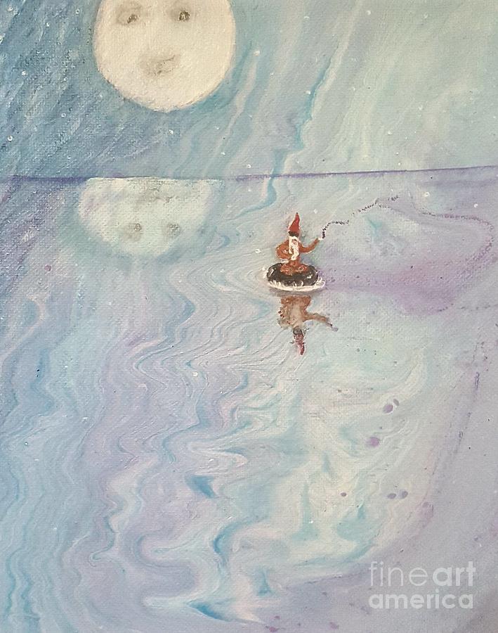 A gnome adrift by Troy Jones