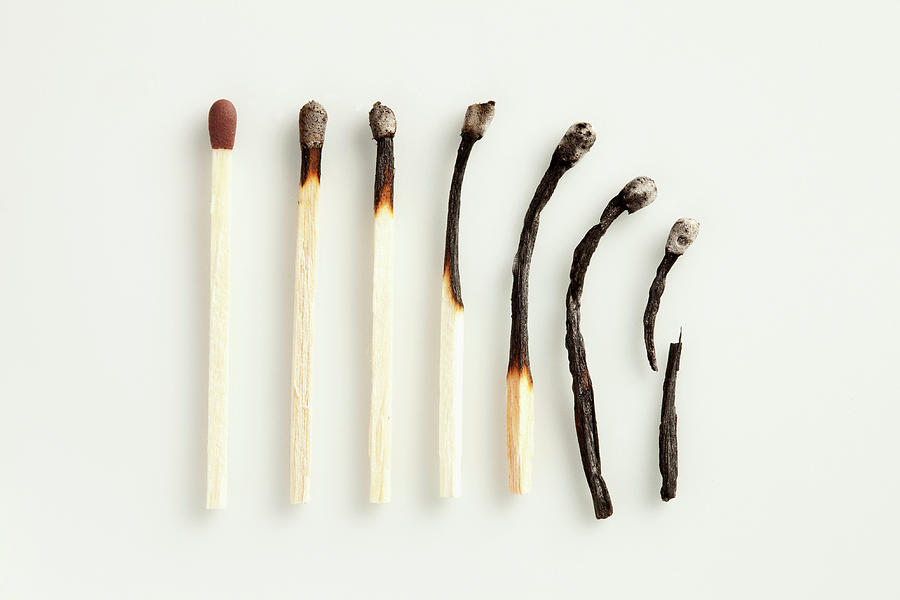 A Gradual Decline Of Matches Photograph by Larry Washburn
