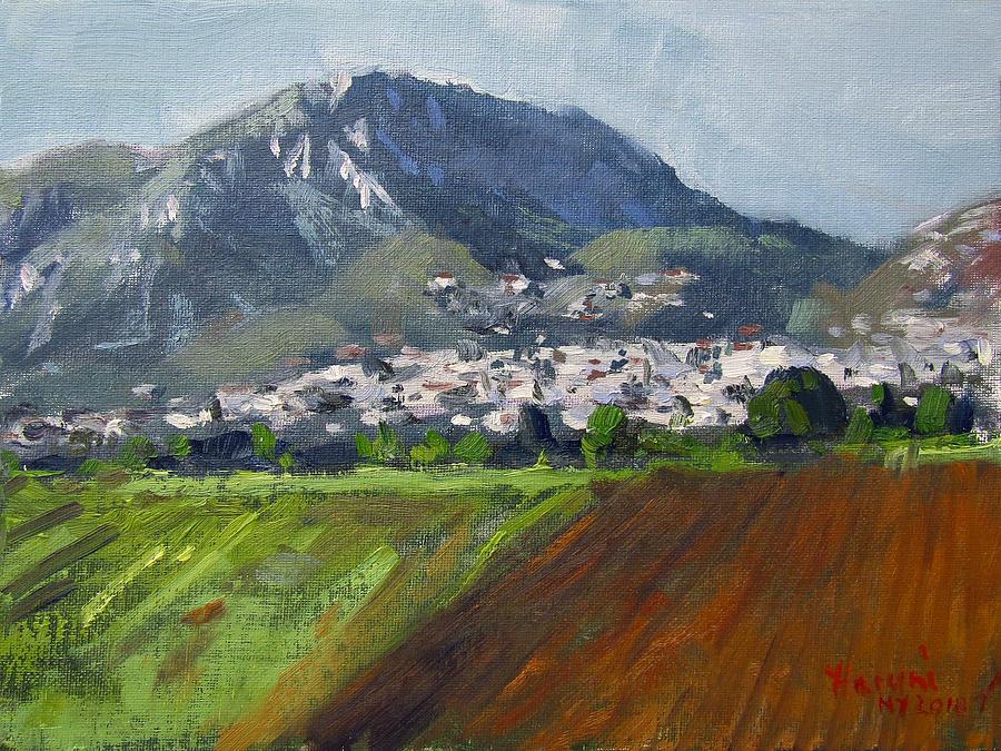 Greek Painting - A Greek Village by Ylli Haruni