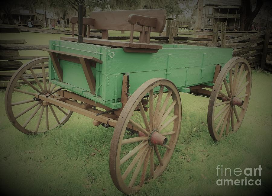 A Green Wagon Aged by D Hackett