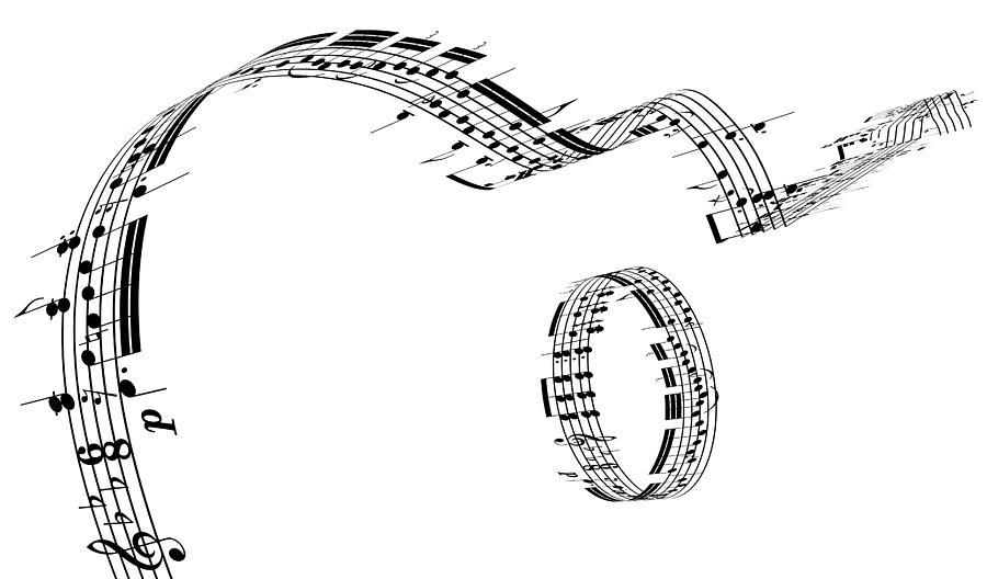A Guitar Made Of Music Notes Digital Art by Ian Mckinnell