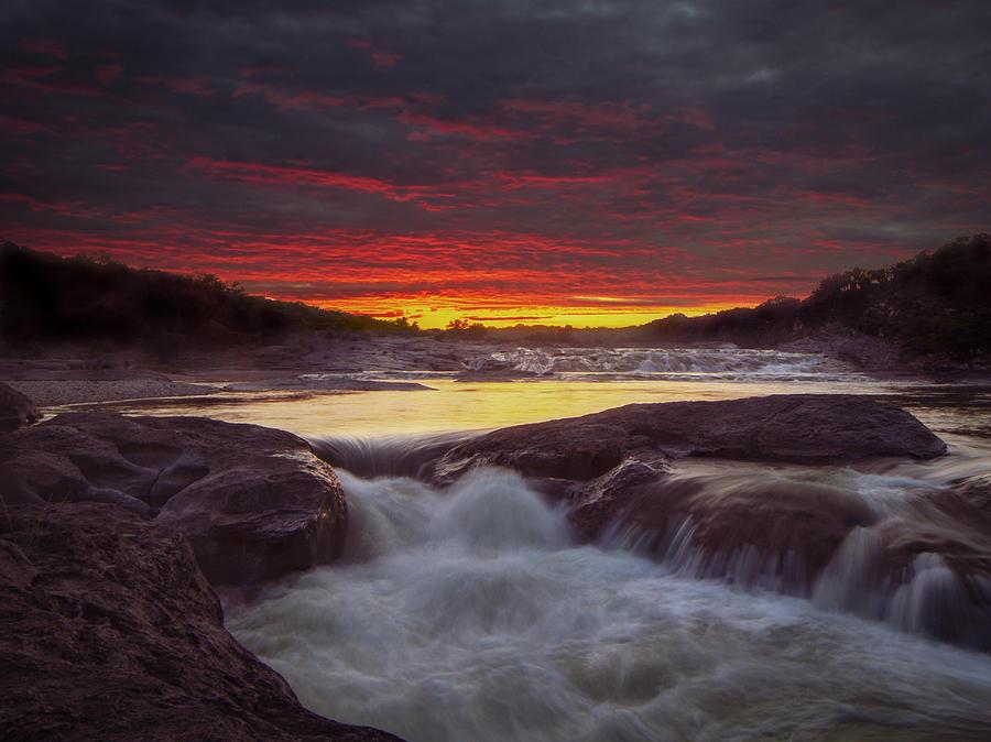 A hazy Sunset by Stephen Riella
