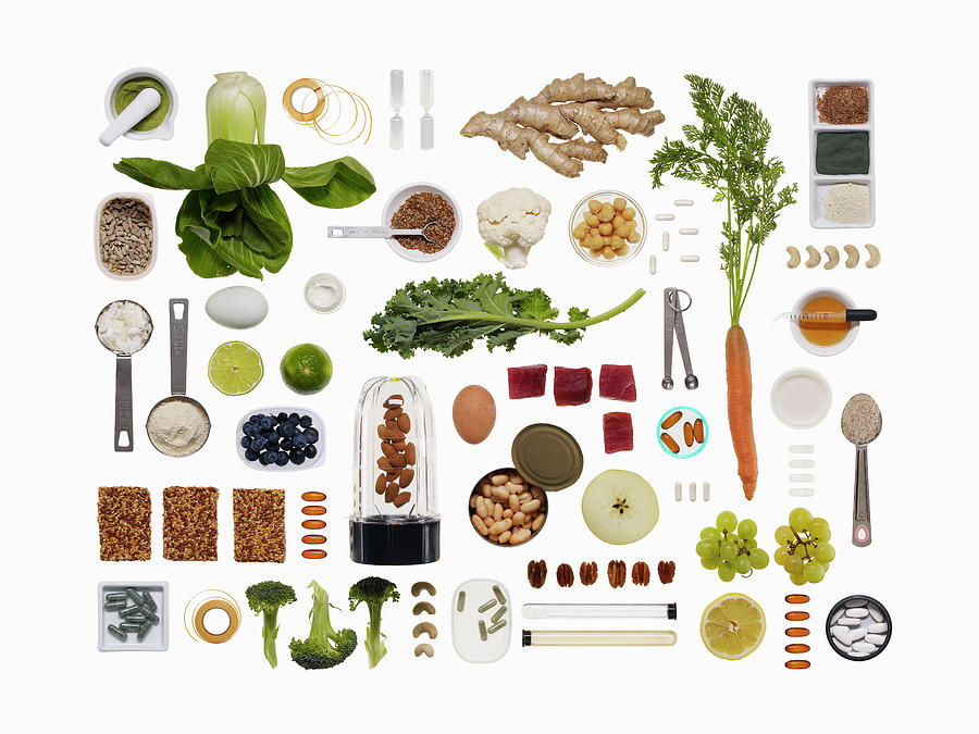 A Healthy Diet Food Grid Photograph by Dwight Eschliman