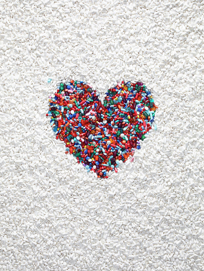 Pharmacy Photograph - A Heart Shaped By Pills by Dwight Eschliman