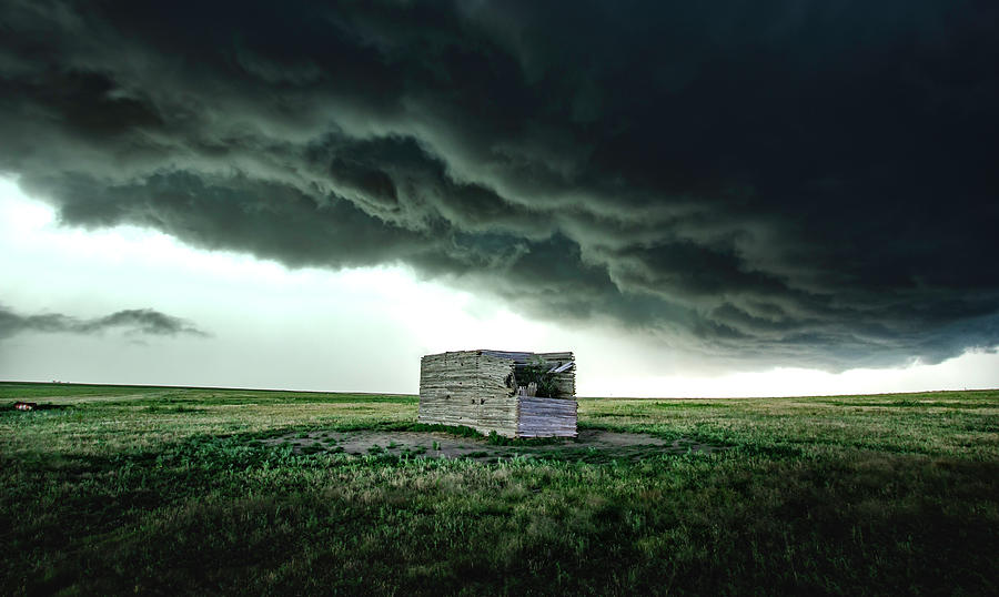 Just A Big Box Under A Big Storm by Brian Gustafson