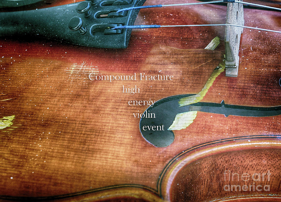 Violin Photograph - A High Engery Violin Event  by Steven Digman