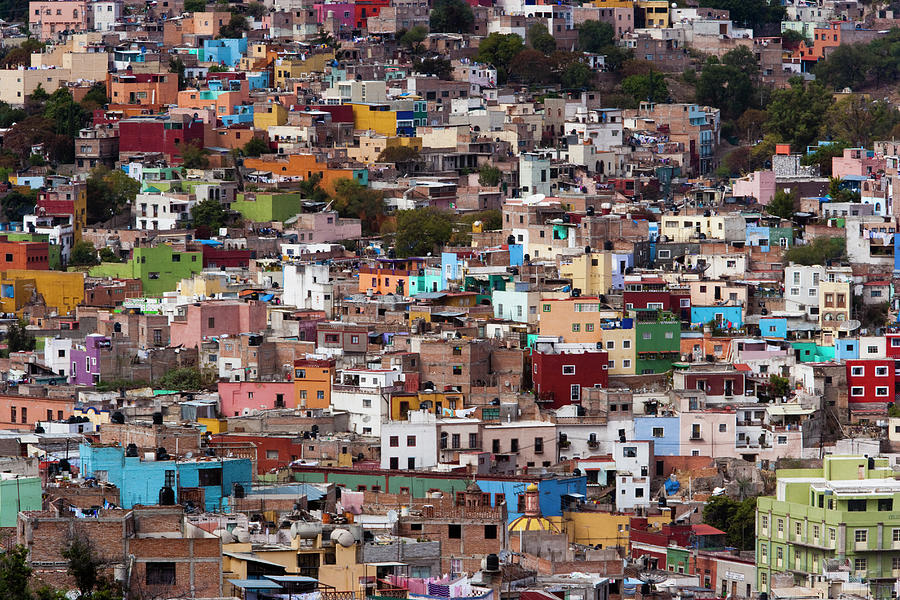 A Hillside Of Colorful Buildings, In Photograph by Mint Images - Art Wolfe