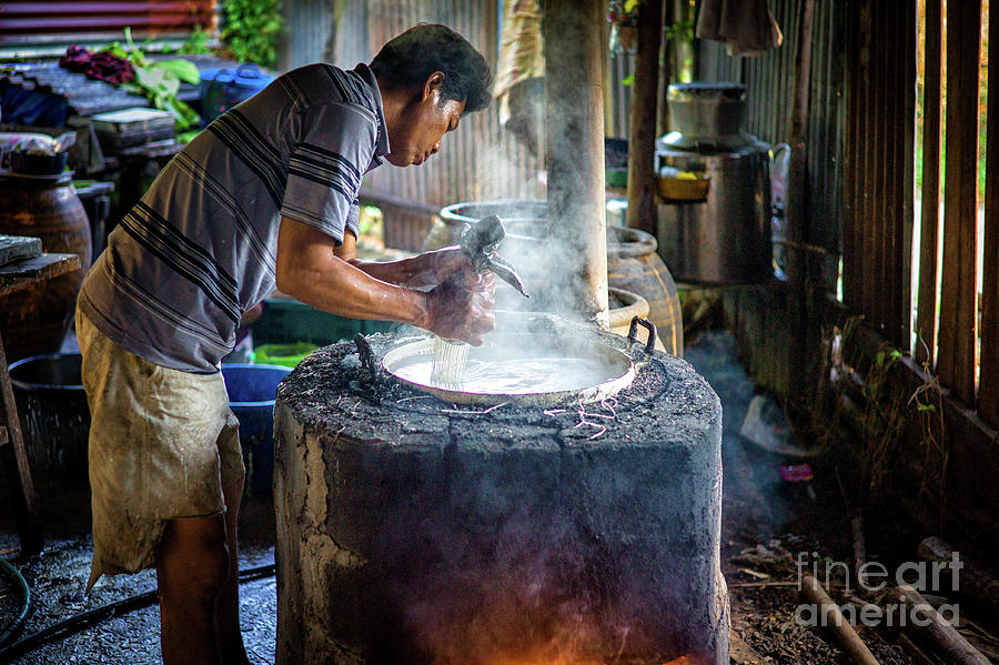 A Home Noodle Factory in Rural Thailand by Lee Craker