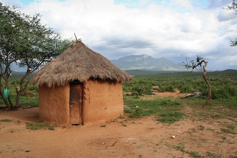 A Hut Made Out Of Mud In Africa Photograph by Andydidyk