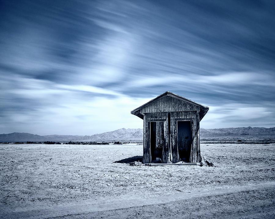 Desert Photograph - A Hut On The Desert by Nazeem Sheik