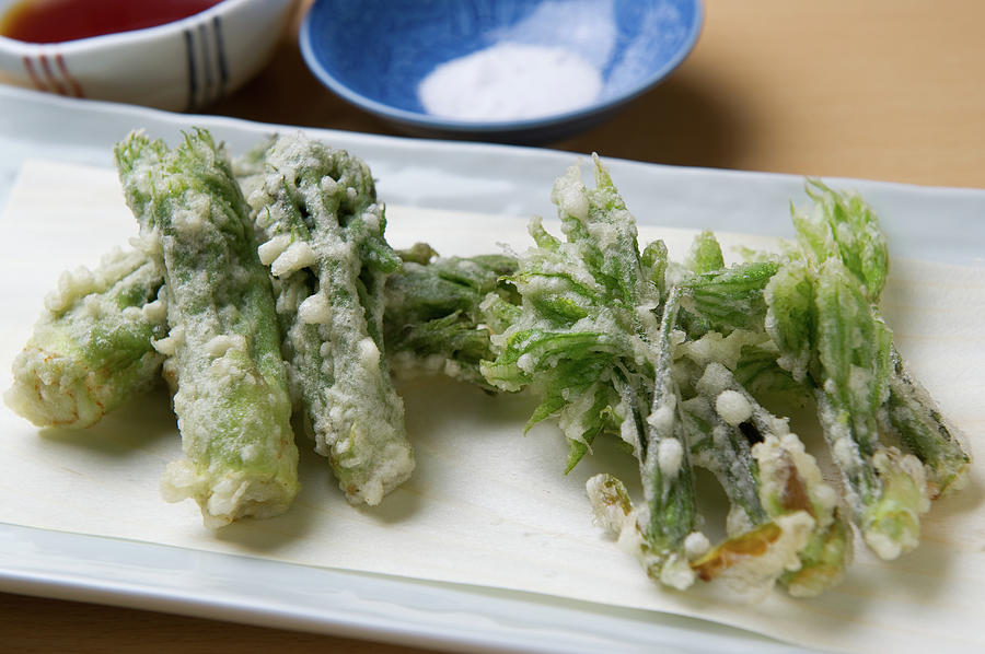 A Japanese Dish Of Wild Plants Photograph by Ryouchin
