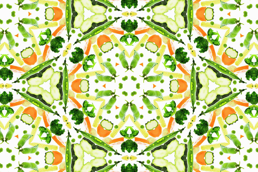 A Kaleidoscope Image Of Fresh Vegetables Photograph by Andrew Bret Wallis