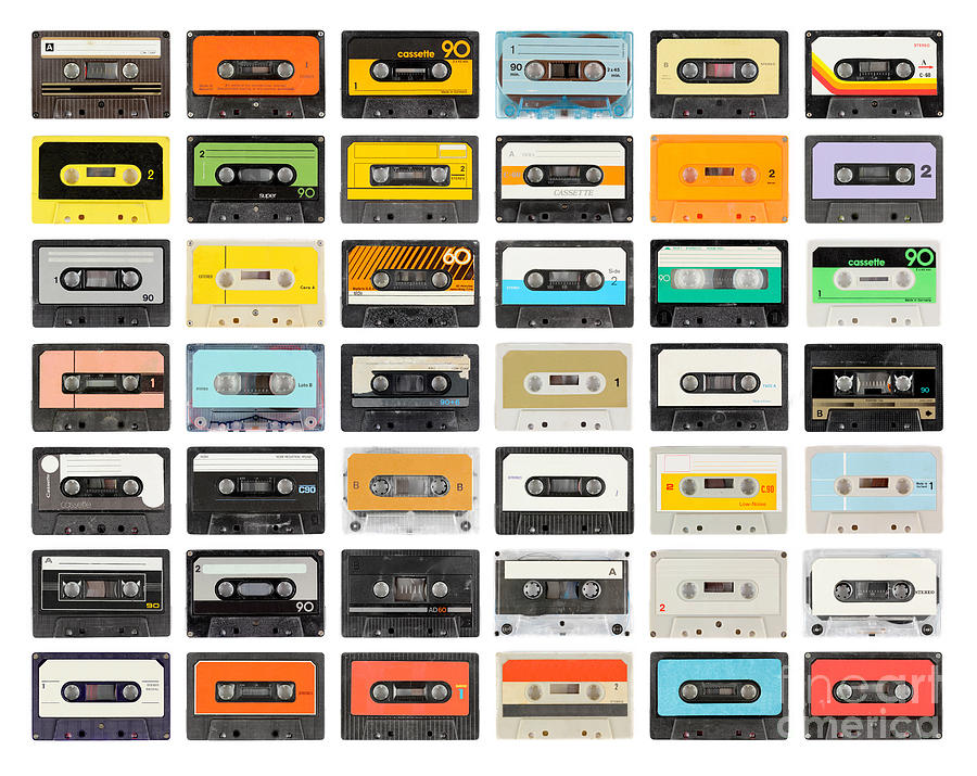 Play Photograph - A Large Collection Of Retro Cassette by Dubassy