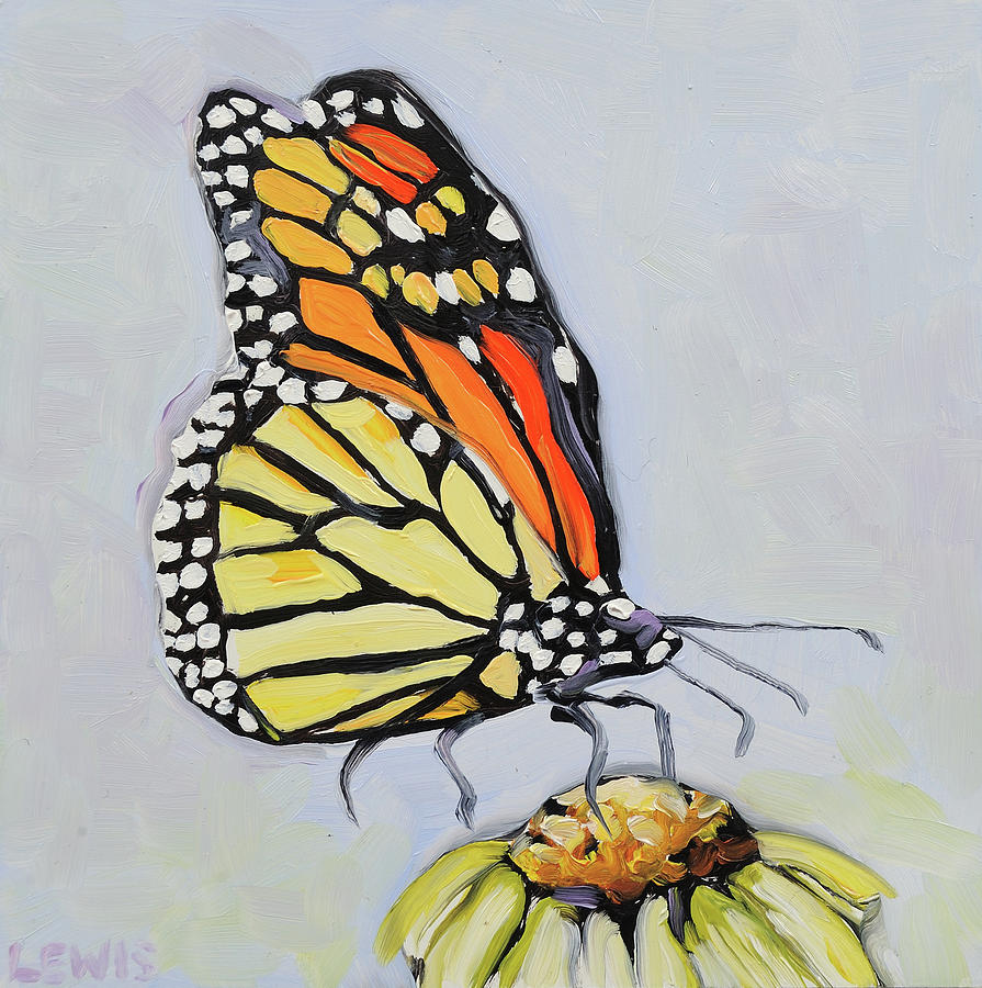 Butterfly Painting - A Light Moment by Anne Lewis