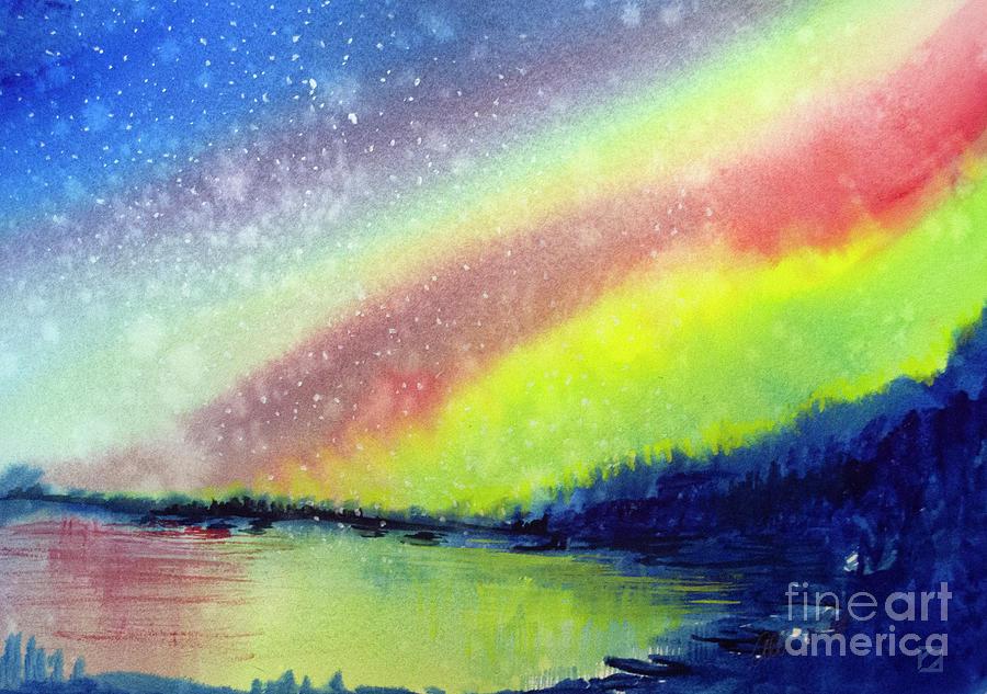 A Little Aurora Borealis Painting