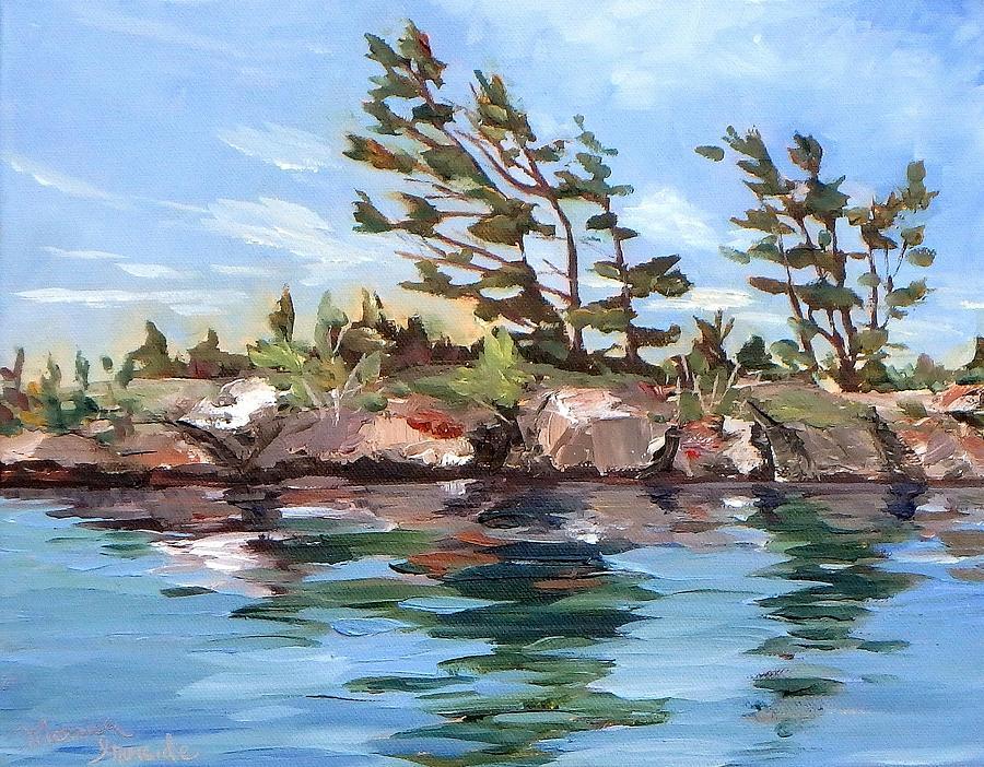 Original Painting - A Little Blue by Monica Ironside