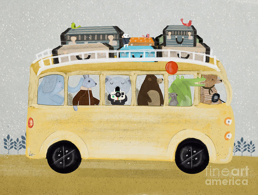 Childrens Painting - A Little Vacation by Bri Buckley