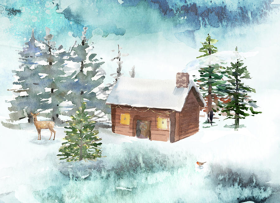 A Log Cabin Christmas by Ruth Moratz
