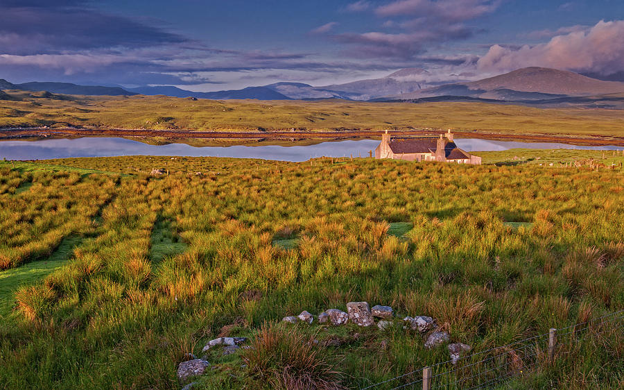 Isle Of Lewis Photograph - A lonely cottage on Scotlands Isle of Lewis by David Ross