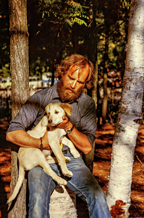 A Man And His Dog 2 Photograph